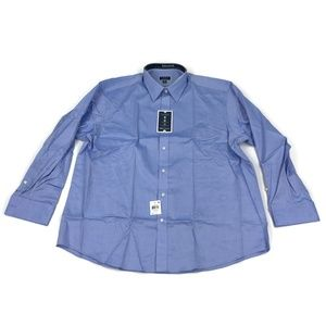 Club Room Mens Dress Shirt Blue 18x34/35
